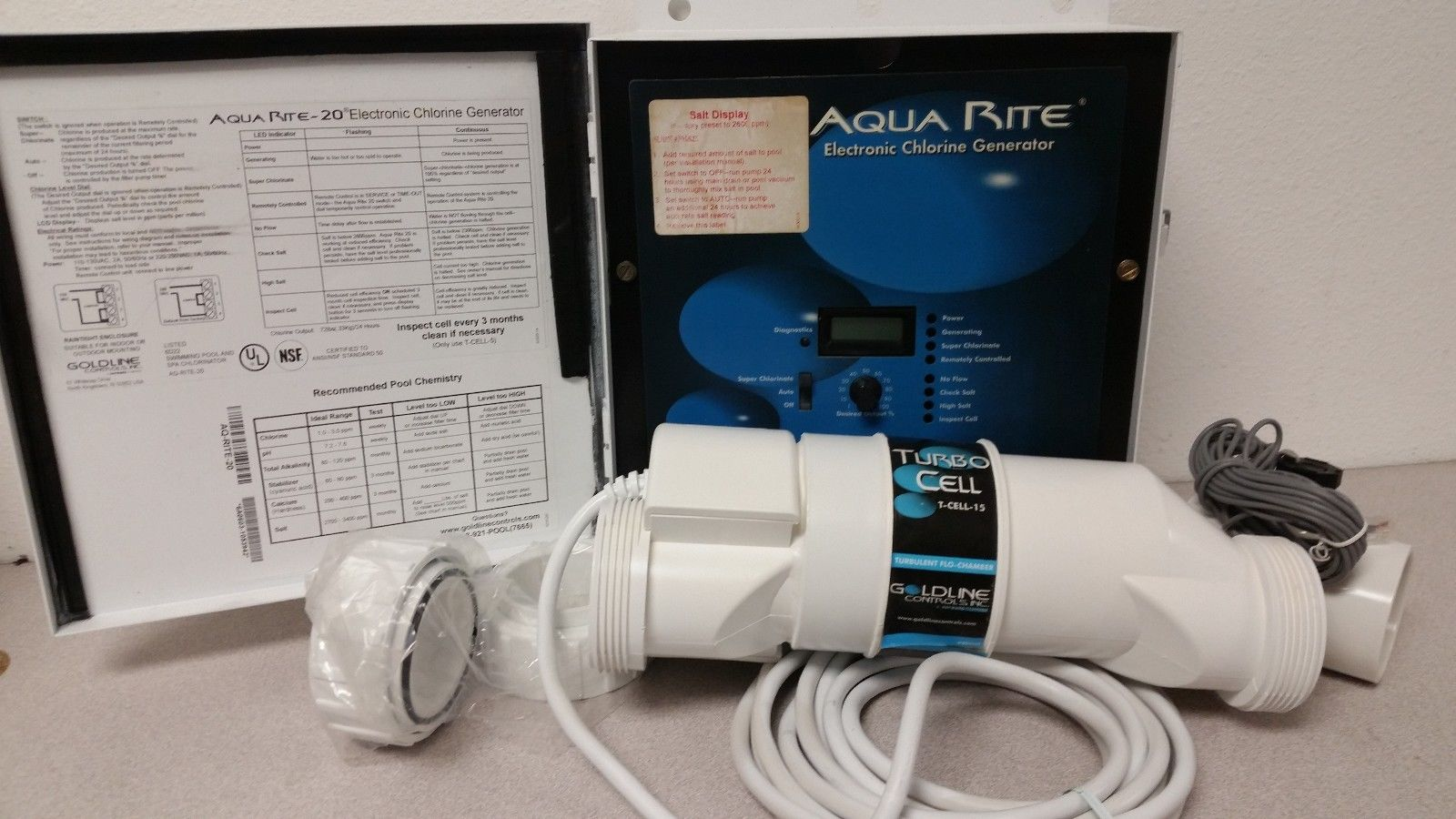 ***REBUILT***Hayward AquaRite Electronic Chlorine Generator up to 40K  gallons